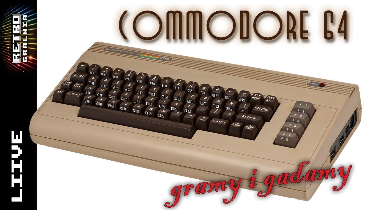 Gramy i Gadamy – Commodore 64 – Live Stram – RetroGralnia