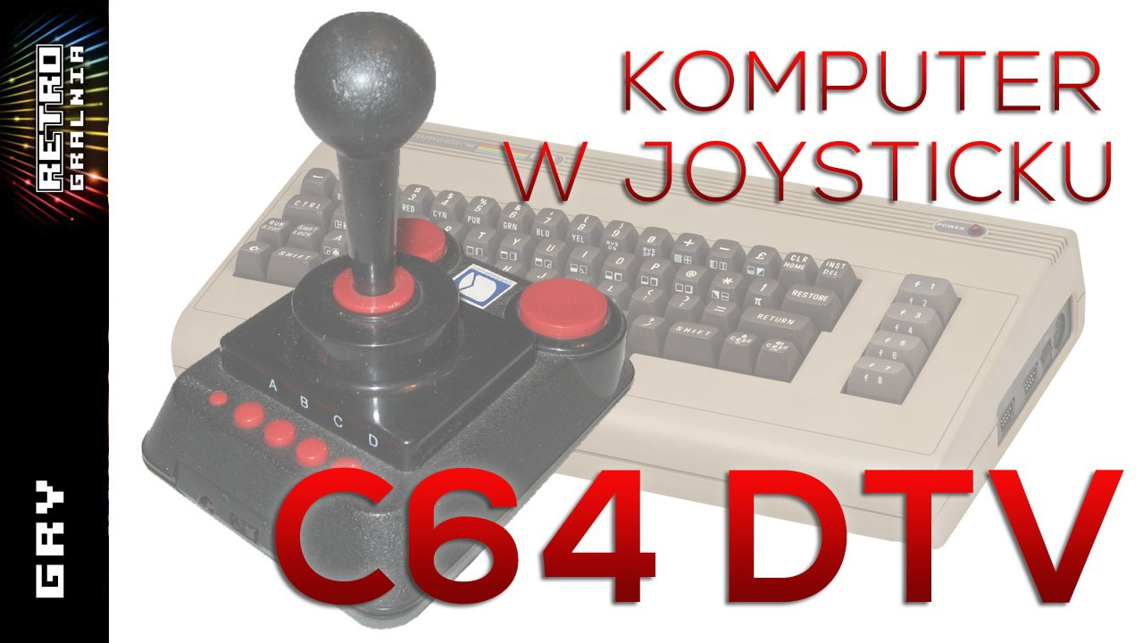 🎮 Commodore 64 Direct-to-TV – C64 DTV – Klon Commodorka zamkniety w Joystick