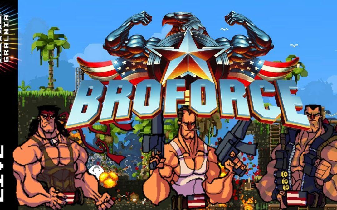🔴 Broforce – Live – Nowe wcielenie Contry, czy Metal Sluga?  (feat. Flowersik)