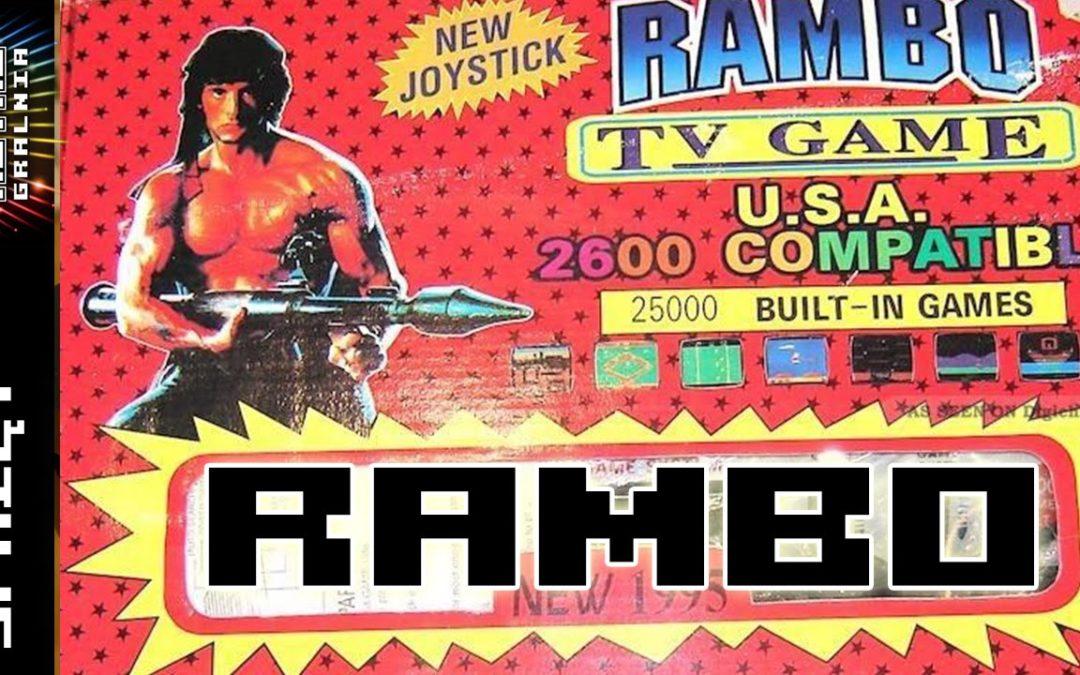 """Rambo – TV Game 2600 – Klon Atari 2600 – Pierwsza """"prawdziwa"""" konsola w Polsce –  RG#110"""