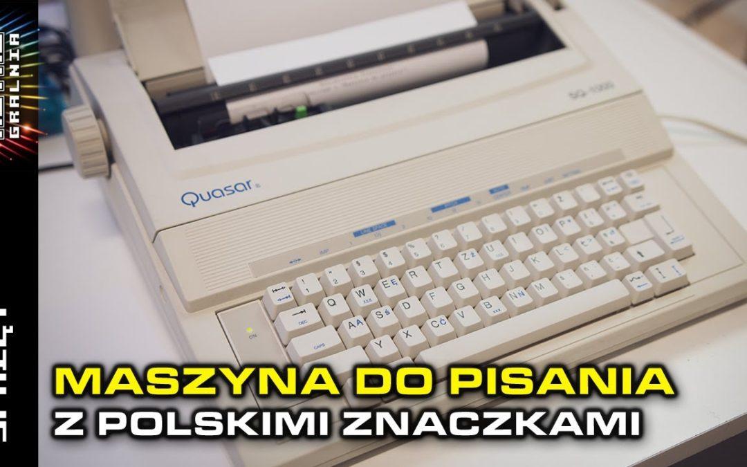 ⌨️ Maszyna do pisania – SQ-1000, szkoda że nie Commodore